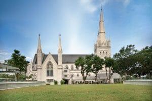 St. Andrew's Cathedral tempat wisata di singapura