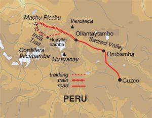 peta Machu Picchu