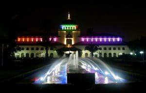 Gedung Sate pada malam hari