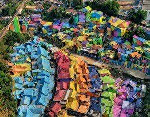 Kampung Warna-Warni Jodipan, Malang (jejakkrismon)