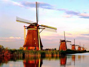 tempat wisata di Belanda - Desa Kinderdijk