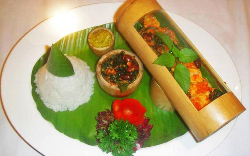 Timbungan makanan khas Bali