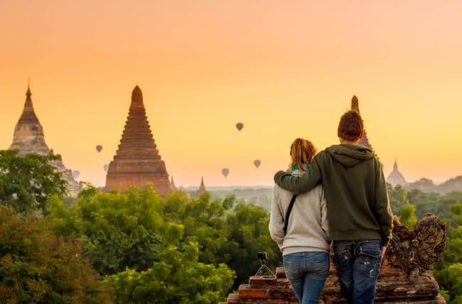 Bagan, Myanmar bulan madu