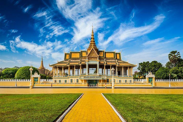 Istana Kerajaan Phnom Penh (travel.kompas)