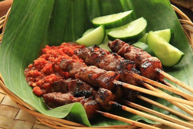 Kuliner Bali - Sate Plecing Arjuna (kompas)
