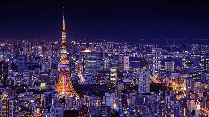Tokyo Tower - citylight Tokyo Tower (wallpaperbetter)