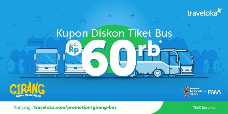 Salah Satu Contoh Diskon Bus di Traveloka (traveloka)
