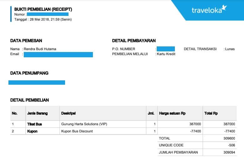 kelebihan pesan tiket bus online - Tiket Bus Traveloka (rendra)