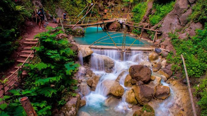 Tempat wisata di Kulon Progo - Air Terjun Kedung Pedut (tribunnews)